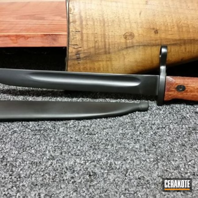 Mobile-friendly version of the 3rd project picture. Graphite Black H-146Q, Mosin–Nagant, Bayonet