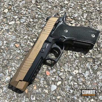 Cerakoted Sig Sauer X5 Handgun In H-148 Burnt Bronze