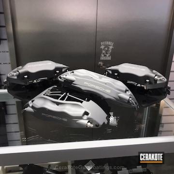 Cerakoted Cerakoted Porsche Brake Calipers In H-237 Tungsten