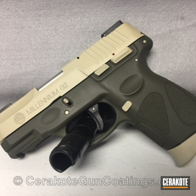 Taurus 9mm in Federal Standard Brown and O.D. Green