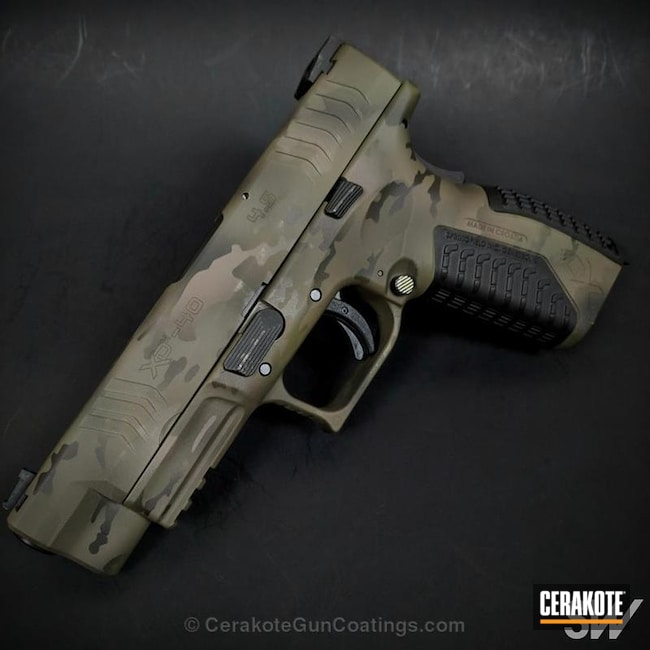 Springfield XD Handgun in a Cerakote MultiCam Finish