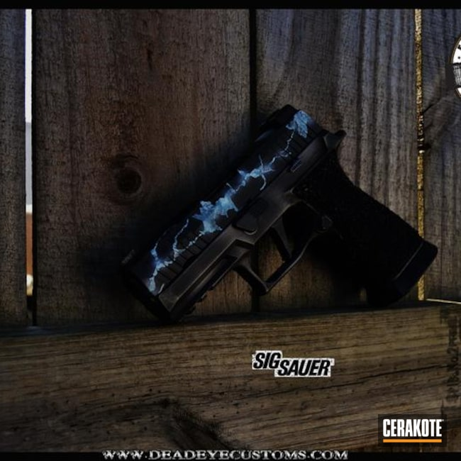 Custom Mixed and Finished Sig Sauer Handgun