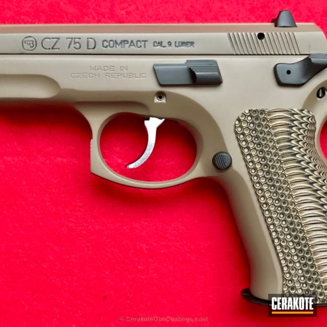 CZ 75 D Compact in H-261 Glock FDE