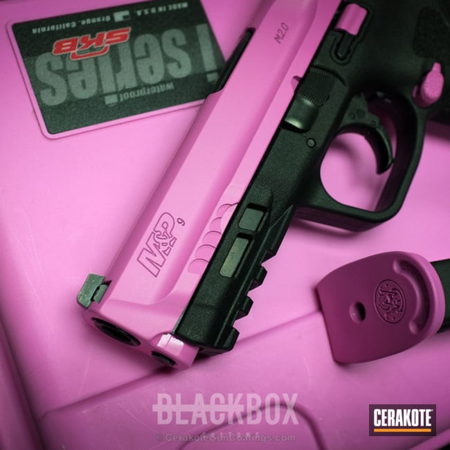 Custom Pink Cerakote Finish