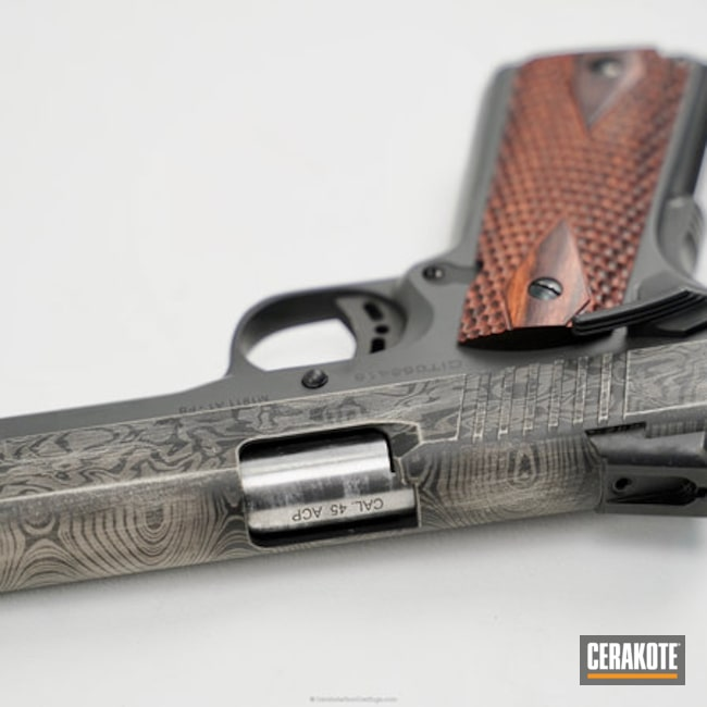 Distressed Cerakote Demascus Pattern