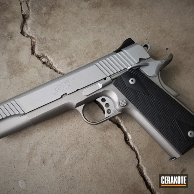 1911 Handgun done in Satin Mag and Savage Stainless