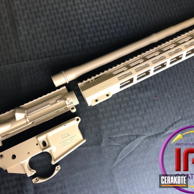 Mobile-friendly version of the 1st project picture. Tactical Rifle, Desert Sand H-199Q, Solid Tone, Upper / Lower / Handguard