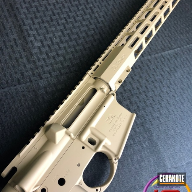 Mobile-friendly version of the 3rd project picture. Tactical Rifle, Desert Sand H-199Q, Solid Tone, Upper / Lower / Handguard
