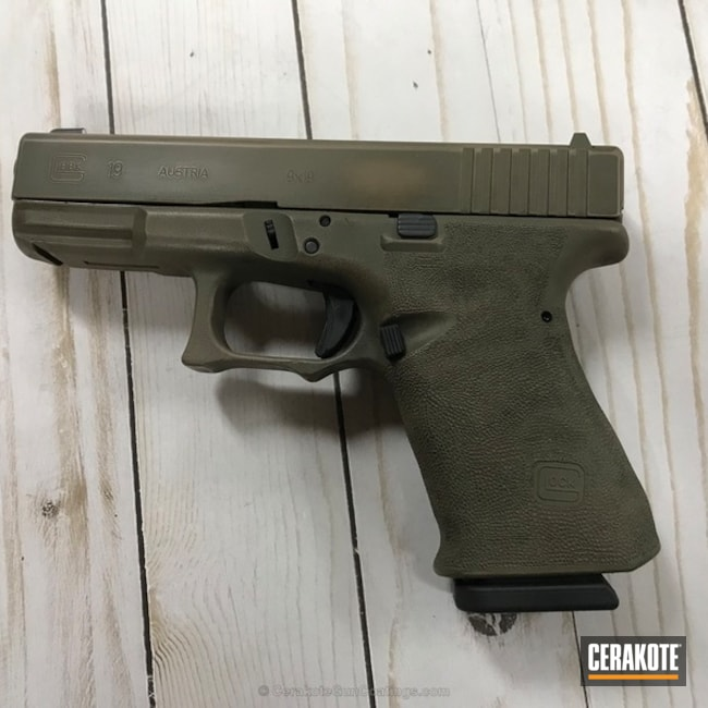 Distressed Glock 19 Handgun
