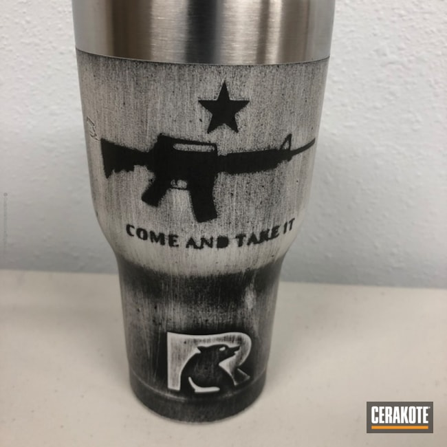 Custom Distressed RTIC Tumbler Cup