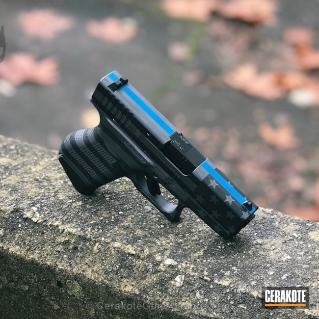 American Flag / Thin Blue Line Finished Glock 43