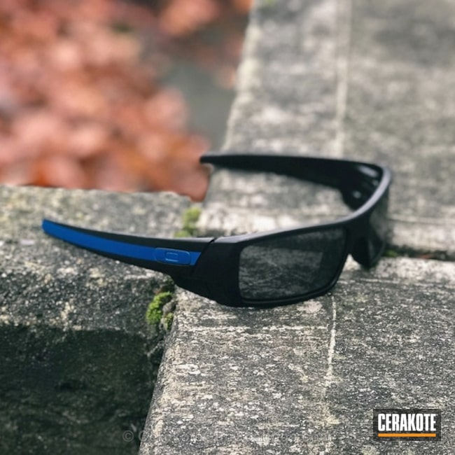 Thin Blue Line Themed Oakley Sunglasses