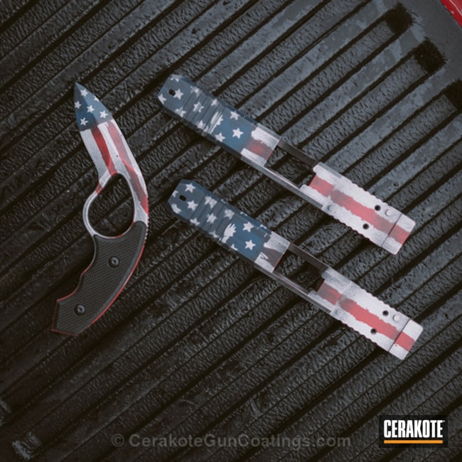 Matching Colonel Blades and Glock Slides in an American Flag Finish
