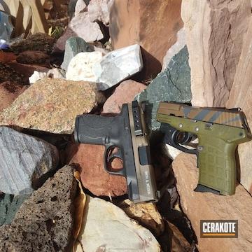 Cerakoted H-148 Burnt Bronze, H-232 Magpul O.d. Green And H-234 Sniper Grey