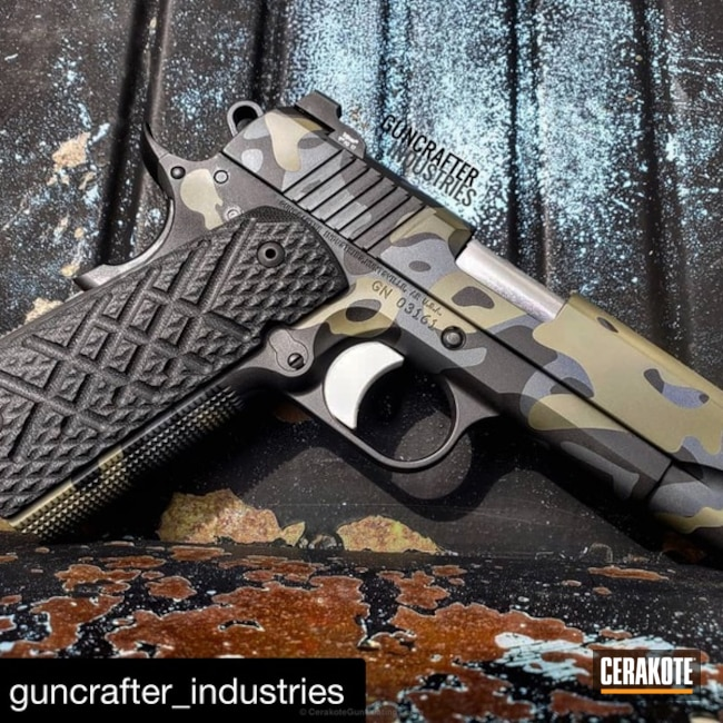 "Thumbnail image for project ""Guncrafter Industries 1911 in a Cerakote MultiCam Finish"""