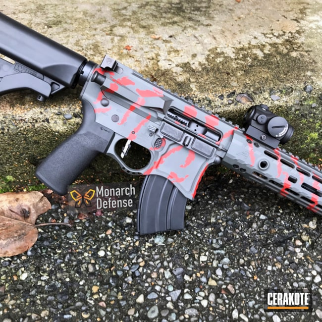 "Thumbnail image for project ""Aero Precision SBR done in a Red Tigerstripe Finish"""