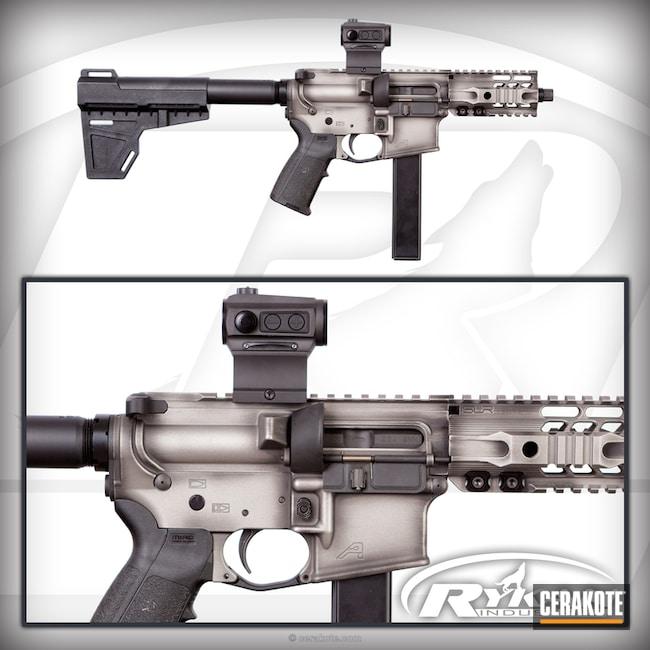 Cerakoted: Aero Precision,AR Pistol,Battleworn,MagPul,Graphite Black H-146,SLR Rail,Titanium H-170,Holosun,Pistol Brace,9mm AR pistol