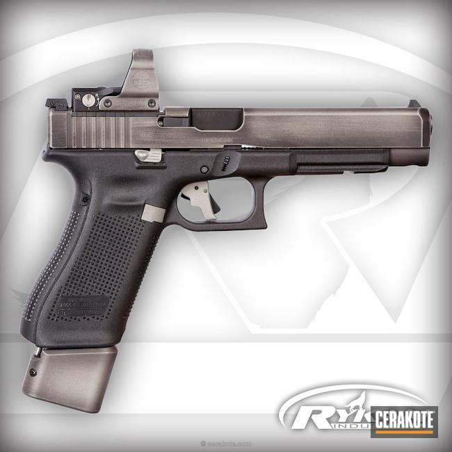 Cerakoted: Battleworn,Graphite Black H-146,Titanium H-170,Pistol,Glock,Leupold