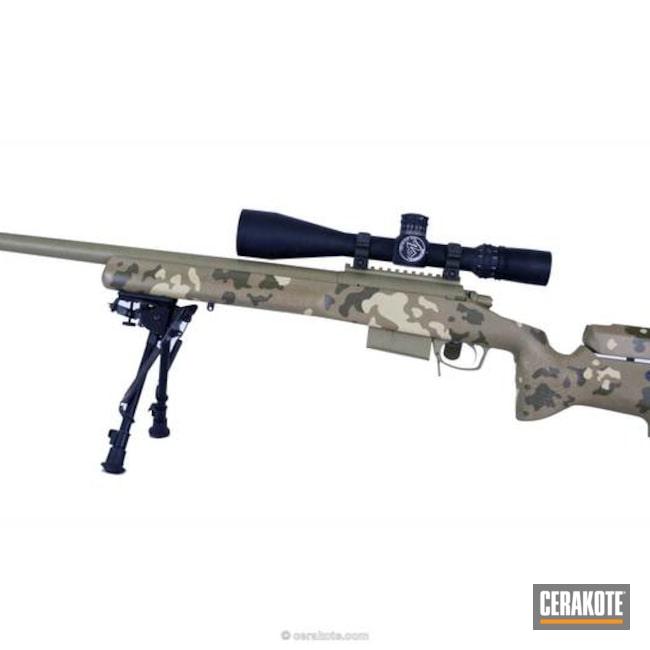 Cerakoted: Bolt Action Rifle,Coyote Tan H-235,Desert Sage H-247,MultiCam,Mil Spec O.D. Green H-240,Camo