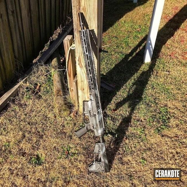 Cerakoted: Kryptek,Graphite Black H-146,AR-10,Tactical Rifle,BATTLESHIP GREY H-213,SIG™ DARK GREY H-210,AR 308