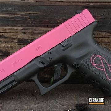 Cerakoted Glock 19 Pink Ribbon Themed Handgun