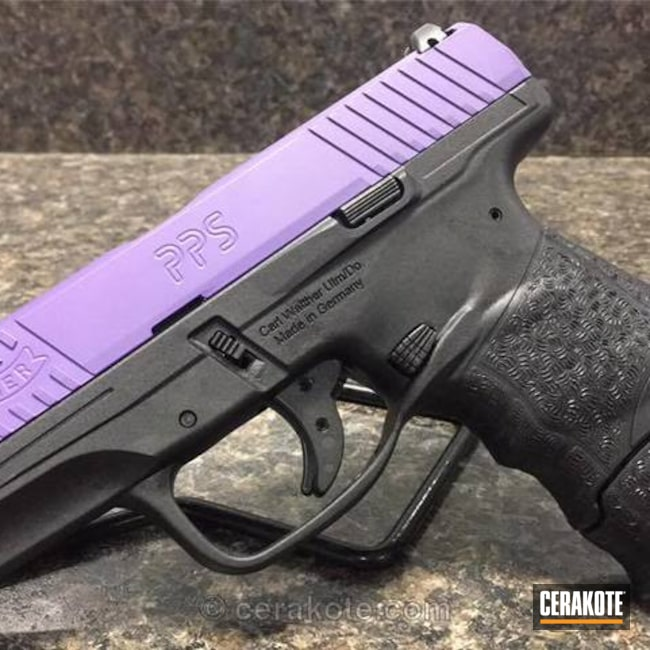 Cerakoted: Walther,Two Tone,Wild Purple H-197,Everyday Carry,Pistol,Custom Slide,Nichols Guns Custom Shop,Walther PPS