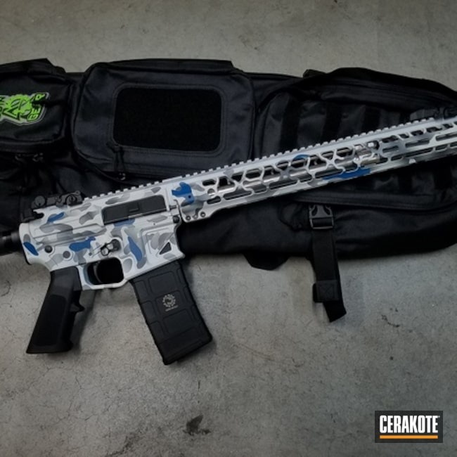 Cerakoted: NRA Blue H-171,MultiCam,Snow White H-136,Tactical Rifle
