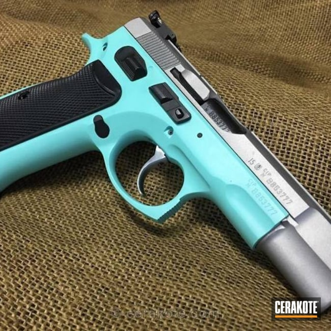 H-147 Satin Mag and H-175 Robin's Egg Blue