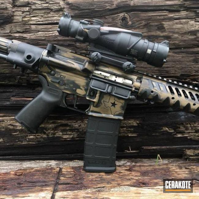 Cerakoted: MAGPUL® FLAT DARK EARTH H-267,Battleworn,Texas Cerakote,Graphite Black H-146,Distressed,Tactical Rifle,Trijicon,Nichols Guns Custom Shop,AR Rifle,AR-15