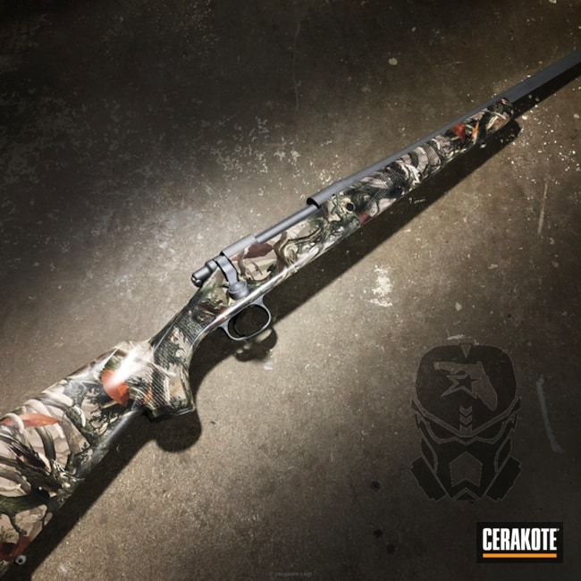 Cerakoted: Hydrographics,Hunting Rifle,Deer Rifle,Remington,Tactical Grey H-227,Remington 700
