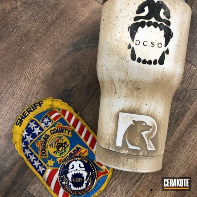 Cerakoted: Bright White H-140,Graphite Black H-146,Desert Sand H-199,More Than Guns,Sheriff's Department,Custom Tumbler Cup,RTIC,Law Enforcement,Tumbler