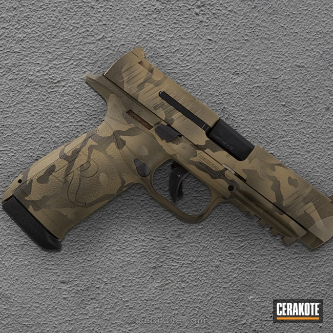 Cerakoted: 9mm,Coyote Tan H-235,Two Tone Multicam,Pistol,Magpul OD Green,Remington,MAGPUL® O.D. GREEN H-232,RP9