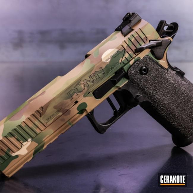 Cerakoted: Single Action,9mm,Double Stack,Highland Green H-200,MAGPUL® FLAT DARK EARTH H-267,HAZEL GREEN H-204,MCMILLAN® TAN H-203,Pistol,1911,Chocolate Brown H-258,TRI-11