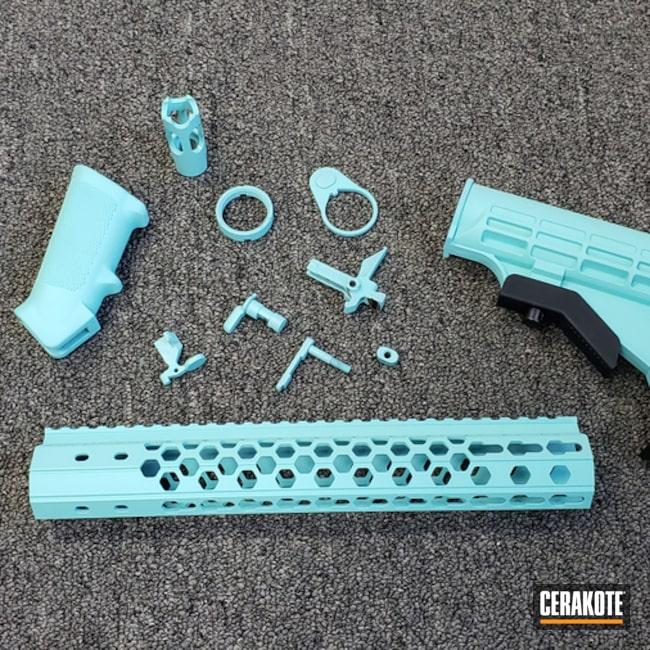 Cerakoted: Robin's Egg Blue H-175,Custom,AR Parts,AR-15