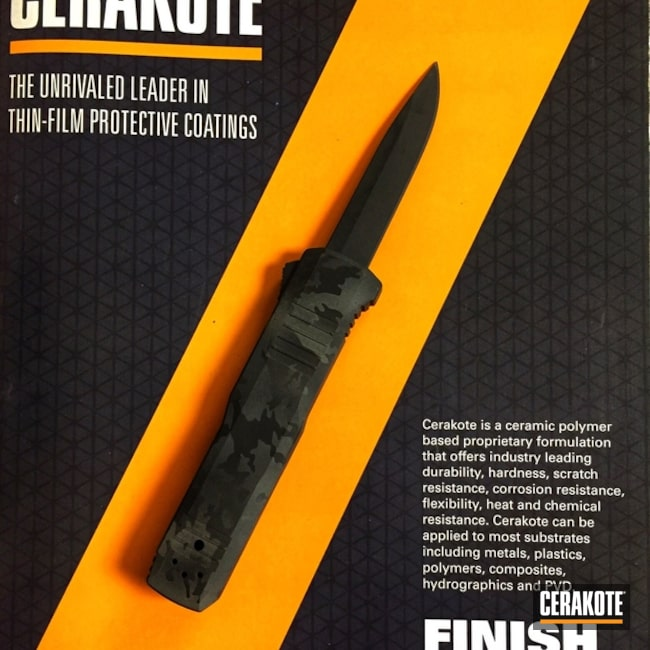 Cerakoted: Sniper Grey H-234,MultiCam,OTF Knife,Armor Black H-190,More Than Guns,Bull Shark Grey H-214,HK Turmoil OTF