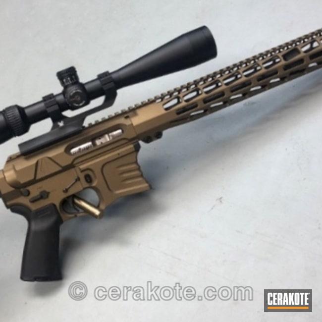 Cerakoted: Custom Rifle,Burnt Bronze H-148,Tactical Rifle,Yankee Hill,AR-15