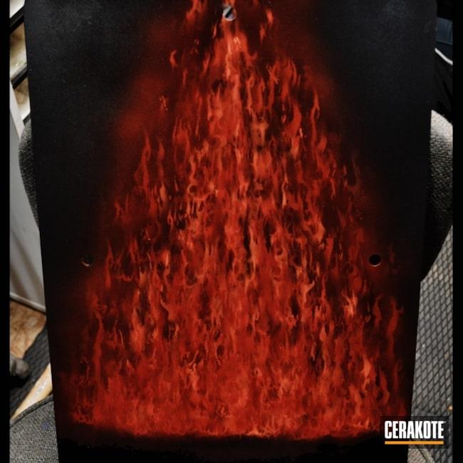 Cerakoted: Custom Mix,Custom Design,Graphite Black H-146,USMC Red H-167,Crimson H-221,More Than Guns,Realistic Fire,Hunter Orange H-128,Test Panel,True Fire