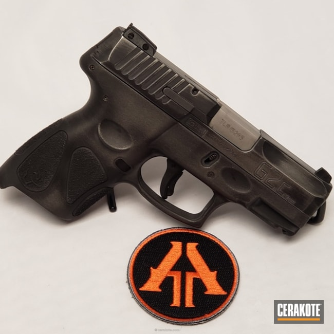 Cerakoted: Taurus PT111 G2,Distressed,Tungsten H-237,Armor Black H-190,Pistol,Subtle,Taurus