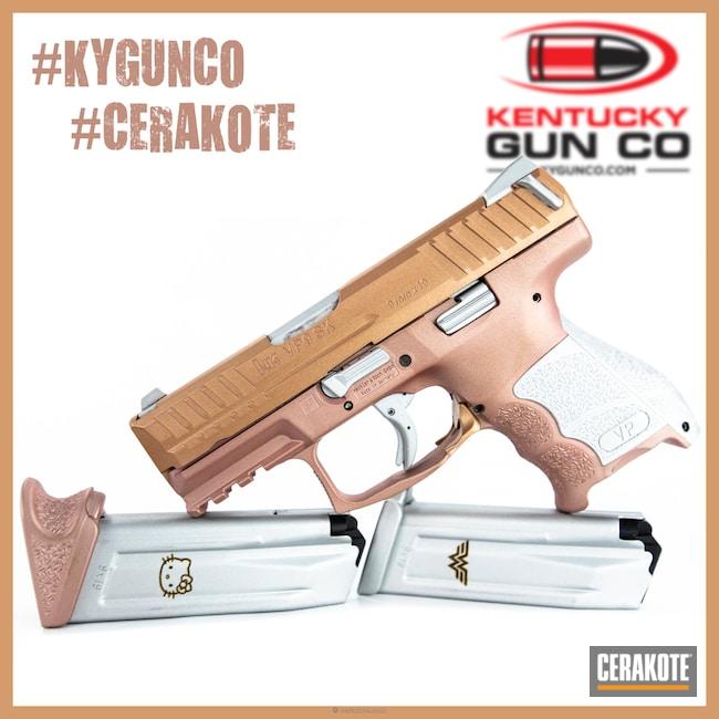 Cerakoted: Custom Mix,HK Pistol,Rose Gold,HKVP9,Pistol,Prison Pink H-141,Gold H-122