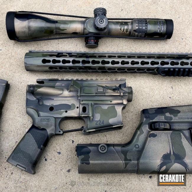 Cerakoted: Battleworn,MultiCam,Graphite Black H-146,Distressed,Desert Sand H-199,Camo,Gun Parts,Forest Green H-248,Noveske Bazooka Green H-189