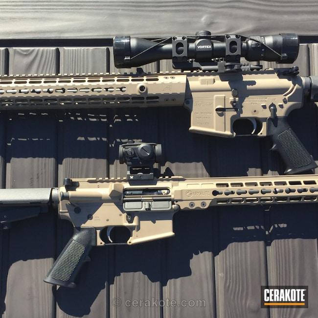 Cerakoted: Two Tone,Tactical Rifle,Flat Dark Earth H-265