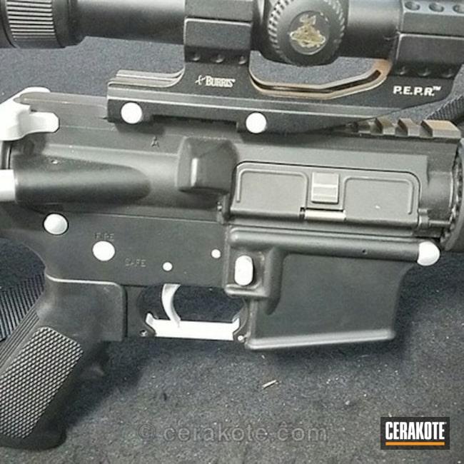 Cerakoted: DPMS Panther Arms,Graphite Black H-146,Satin Aluminum H-151,AR-15