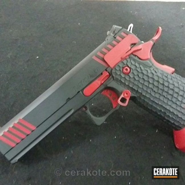 H-146 Graphite Black and H-216 Smith & Wesson Red