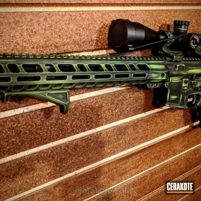 Cerakoted: Zombie,Battleworn,Graphite Black H-146,Distressed,Zombie Green H-168,Tactical Rifle,Zombie Apocalypse