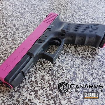 Cerakoted Glock 17 Handgun In H-224 Sig Pink