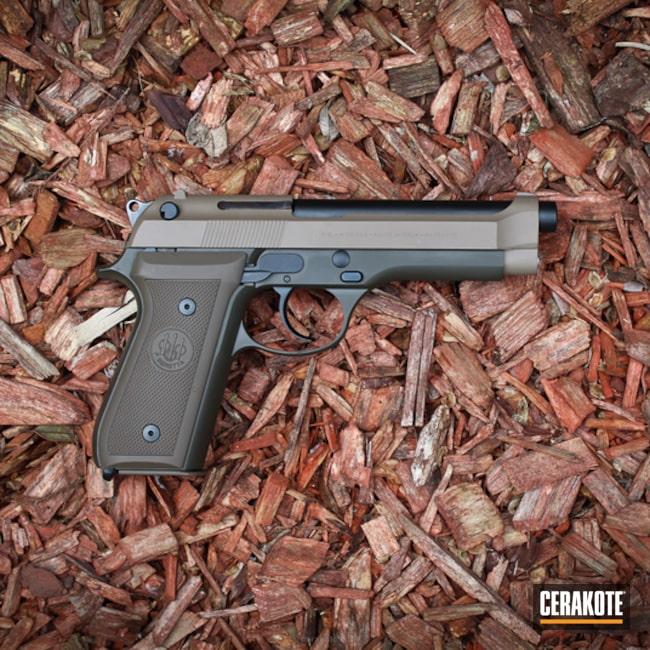 Cerakoted: MAGPUL® FLAT DARK EARTH H-267,Tactical,Graphite Black H-146,Mil Spec O.D. Green H-240,Patriot Brown H-226,Pistol,Beretta,Beretta 92 Pistol