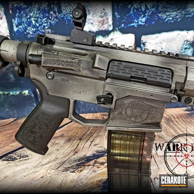 Cerakoted: Battleworn,AR15 Builders Kit,SAVAGE® STAINLESS H-150,Armor Black H-190,Tactical Rifle,.458Socom