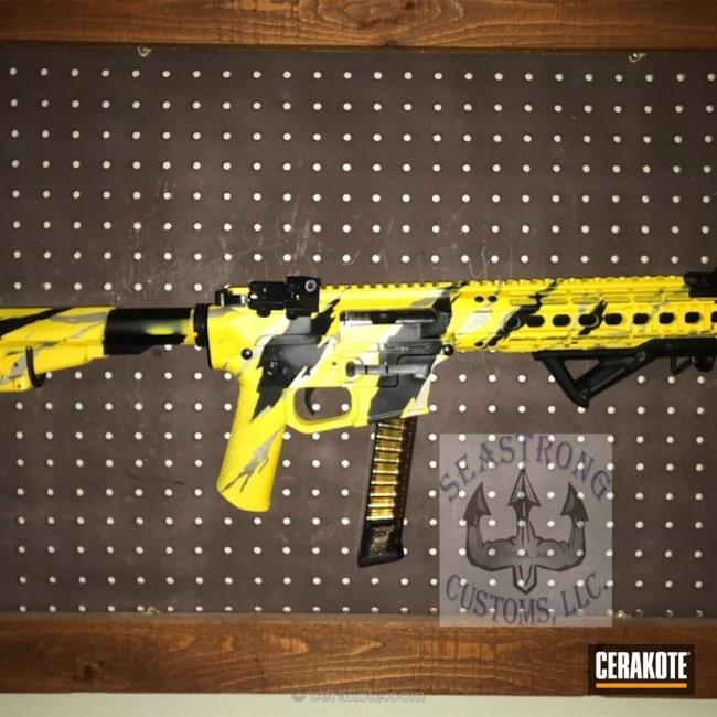 Cerakoted: Palmetto State Armory,Aero Precision,Shimmer Aluminum H-158,Vietnam Tiger Stripe Camo,Corvette Yellow H-144,Tiger Stripes,AR Pistol,Graphite Black H-146,Tactical Rifle