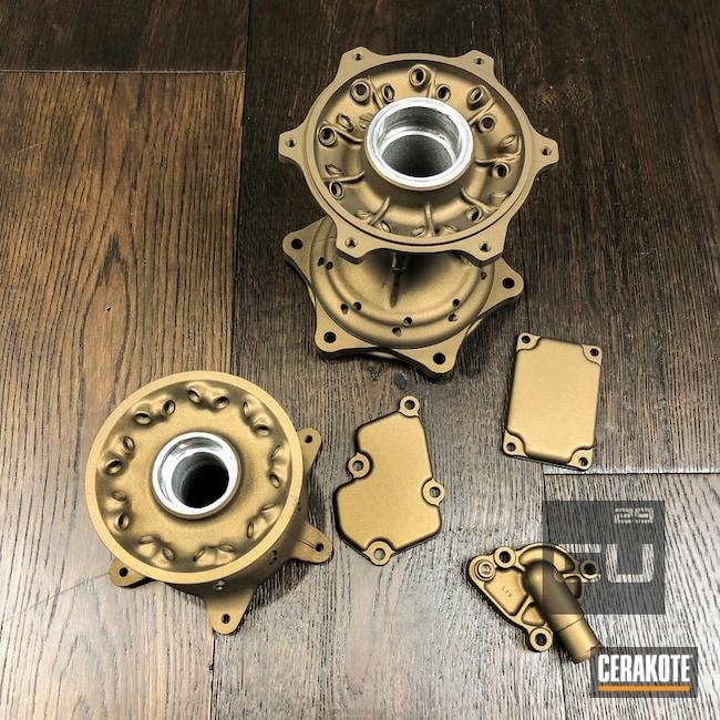 Cerakoted: Motorcycle Parts,Burnt Bronze H-148,More Than Guns