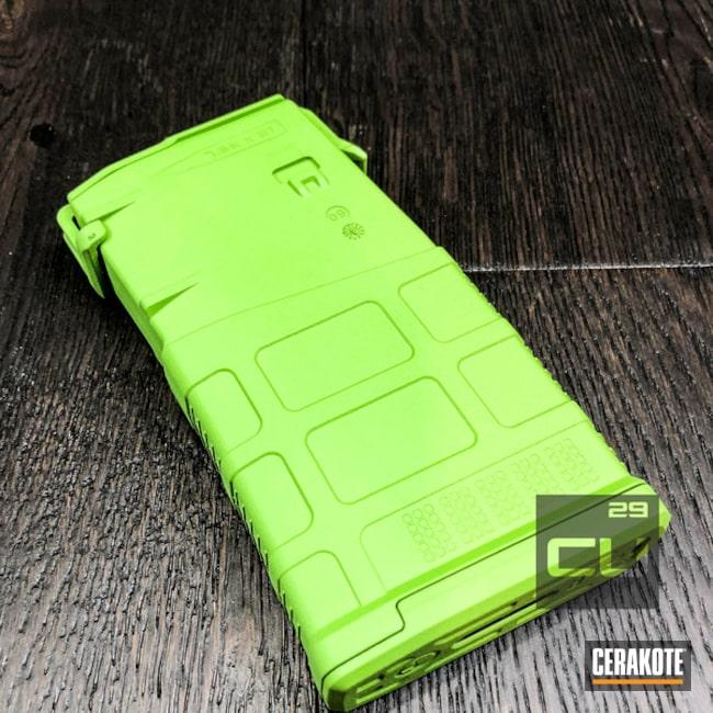 Cerakoted: Pmag,MagPul,Zombie Green H-168,Solid Tone,Magazine